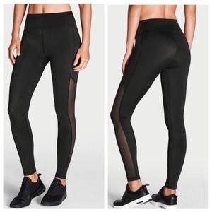 Victoria's Secret Black Fashion Tights Leggings L